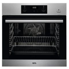 Aeg BES255011M Built In Electric Single Oven - Stainless Steel - A Energy Rated