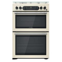 Cannon CD67G0C2CJ 60Cm Gas Double Oven Cooker With Wok Burner - Cream