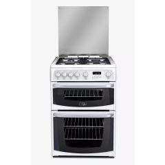 Cannon - CH60GCIW - Carrick 60cm Width - White - Gas Cooker with Double Oven