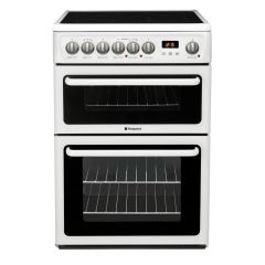 Hotpoint HAE60PS Electric Cooker With Double Oven - White