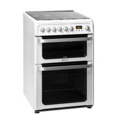Hotpoint HUD61PS 60Cm D/Fuel Cooker White