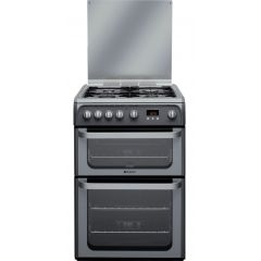 Hotpoint HUG61G 60Cm Gas Cooker Gas Double Oven
