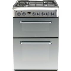 Indesit KDP60SE Duel Fuel Double Oven Cooker - Stainless Steel