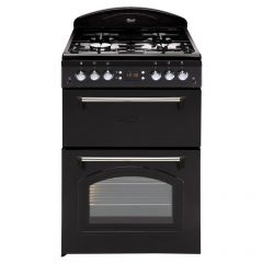 Leisure - CLA60GAK -  Classic Design -  60cm Width Gas Cooker with Double Oven - Black