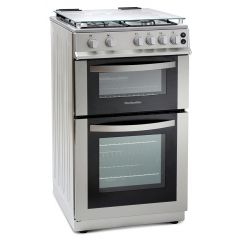 Montpellier -  MDG500LS - 60cm Width- Gas cooker with Double oven - Silver