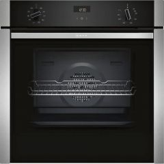 Neff B3ACE4HN0B Slide + Hide Built In Electric Single Oven - Stainless Steel - A Rated